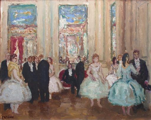 Marcel COSSON - Painting - Le foyer de l'Opéra