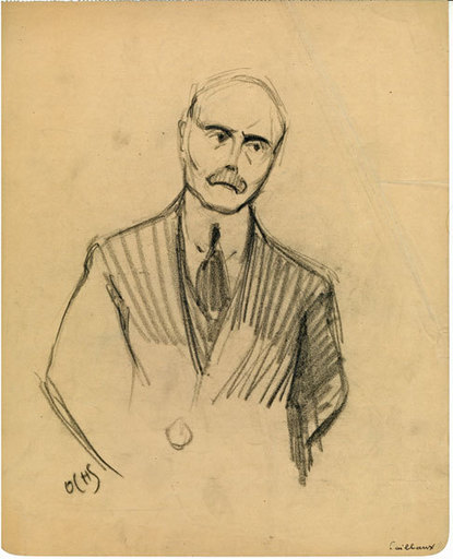 Jacques OCHS - Disegno Acquarello