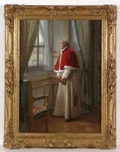"José FRAPPA - Pintura - ""The Cardinal"", oil on panel, late 19th century"