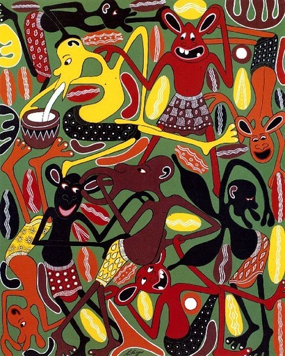 George LILANGA - Pintura - Mambo ya vijana