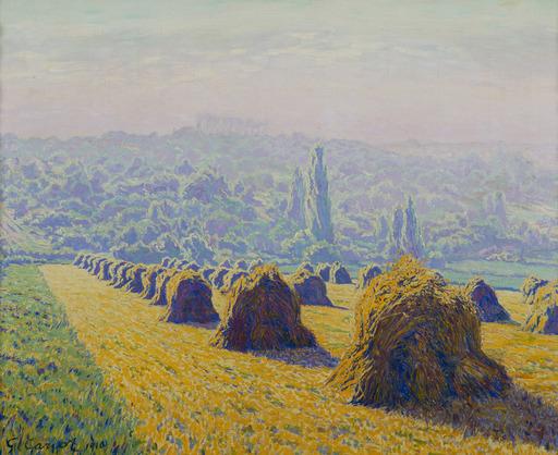 Gustave CARIOT - Peinture - Les Meules, soir d'été