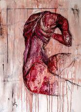 Guillaume KALT - Painting - Les lamentations de Cronos    (Cat N° 6161)