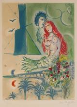 Marc CHAGALL - Print-Multiple - Sirène au Poète