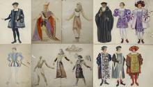 Tatiana Georgievna BRUNI - Dibujo Acuarela - A SET OF 6 COSTUME DESIGNS