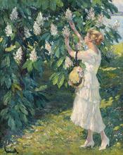 Edward CUCUEL - Painting - Le lac Starnberg