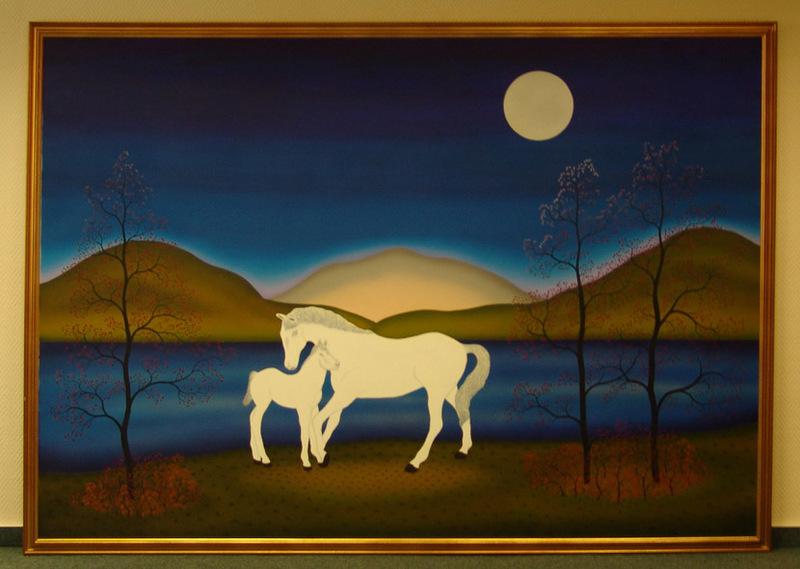 Manfred HORN - Painting - 2 Pferde