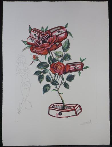 Salvador DALI - Stampa-Multiplo - Florals Rose