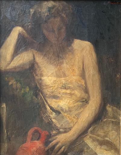 Oskar LARSEN - Pintura - Donna seduta
