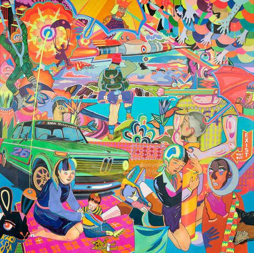 """Guive KHOSRAVI - Painting - """"Le déjeuner sur l'herbe V2"""""""