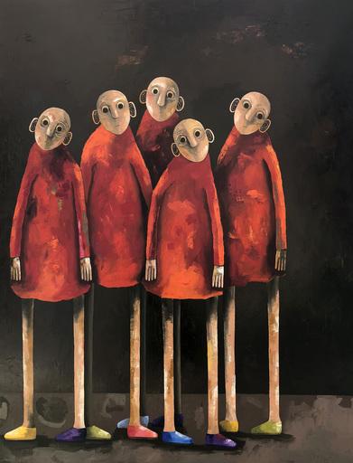 Pascal MARCEL - Painting - Perdus