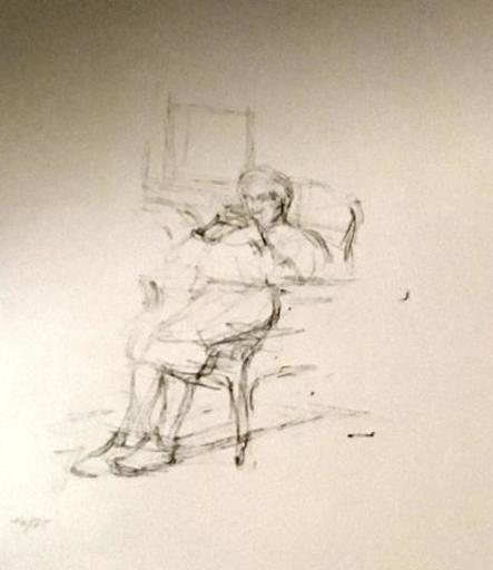 Alberto GIACOMETTI - Print-Multiple - Personnage Assis
