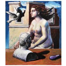 Hermann ALBERT - Pintura - Large Hermann Albert Painting