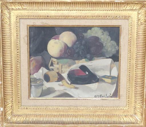 Albert BRAÏTOU-SALA - Peinture - Nature morte à la pipe