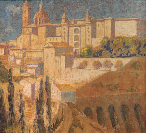 Pierre LABROUCHE - Painting - La Ville d'Urbino