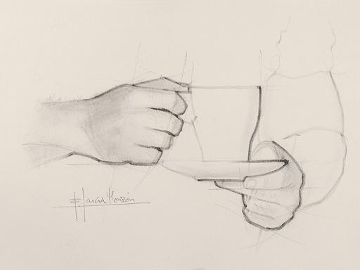 Fernando GARCIA MONZON - 水彩作品 - Tea time 2