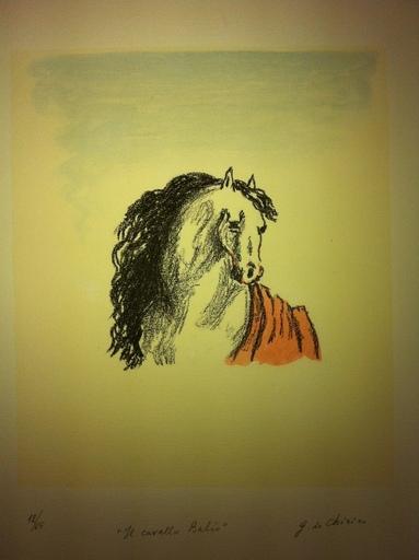 Giorgio DE CHIRICO - Stampa-Multiplo - Il cavallo balio