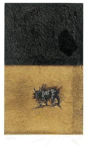 Mimmo PALADINO - Grabado - Bull