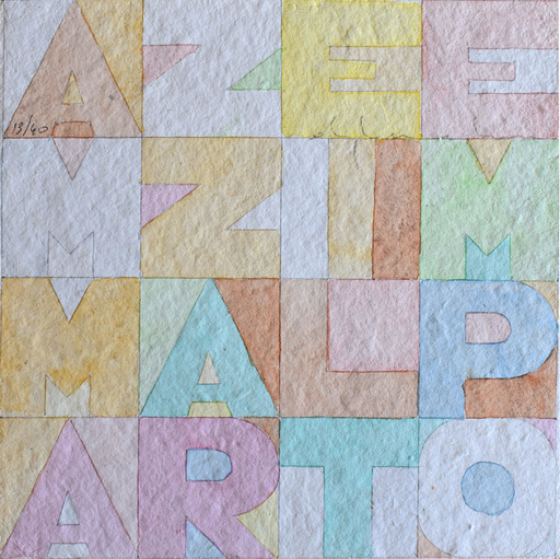 Alighiero BOETTI - Drawing-Watercolor - Killing Time, from: Nine Squares