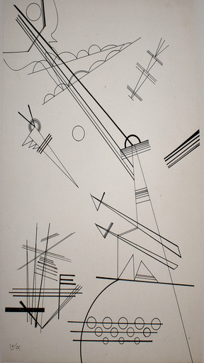 Wassily KANDINSKY - Drawing-Watercolor - Untitled (For Grohmann)