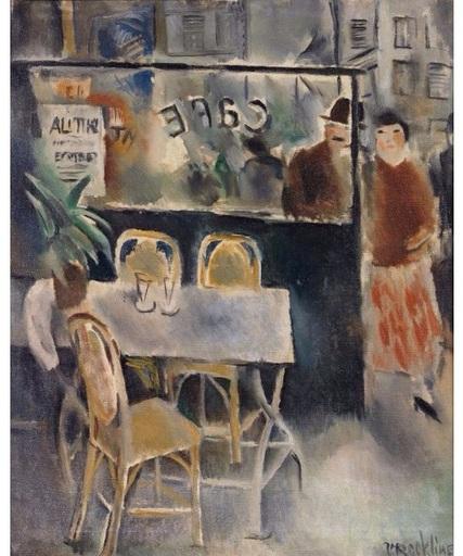 Vera ROCKLINE - Painting - La terrasse de café