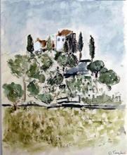 Orfeo TAMBURI - Painting - Casa sul colle