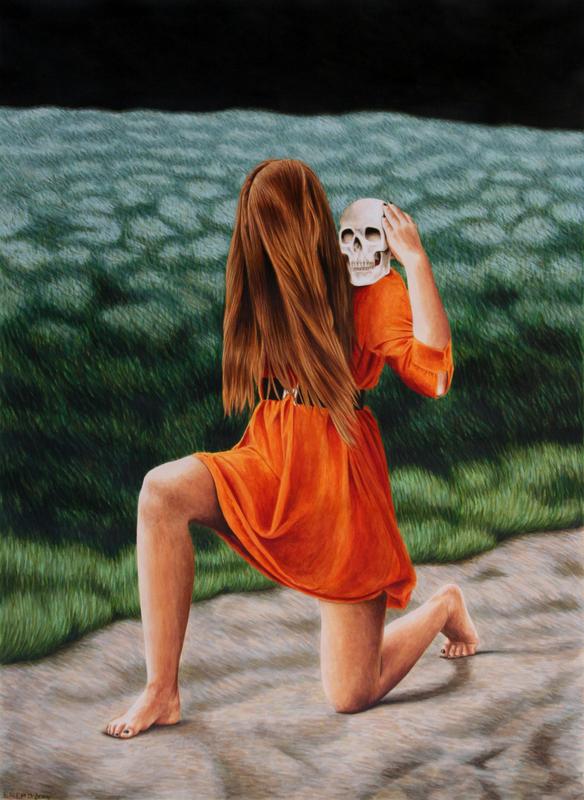 Erlend STEINER LOVISA - Painting - Cornelia 2 (Memento mori)    (Cat N° 4547)