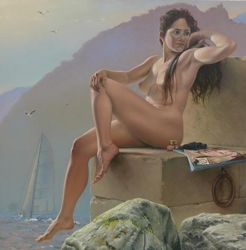 "Bruno SCHMELTZ - Gemälde - Grand nue, ""Océane"""