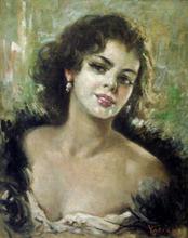 Alfredo VACCARI - Painting - La belle italienne