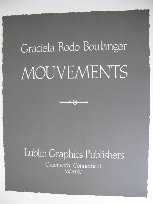 Graciela RODO BOULANGER - Grabado - *Mouvements Porfolio