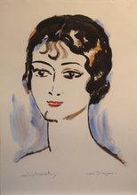 凯斯•凡•东根 - 版画 - Portrait de Jeune Femme