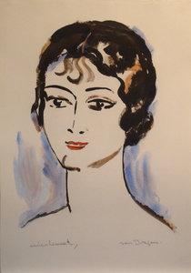 Kees VAN DONGEN - Stampa-Multiplo - Portrait de Jeune Femme