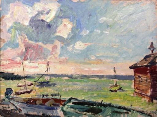 Ludwig BOCK - Peinture - Ludwig Bock 1886-1971 Am Starnberger See