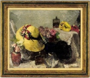 Alessio ISSUPOFF, Still life. Ladies hat.
