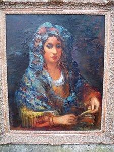 Pere CREIXAMS PICO - Painting - La Belle Espagnole