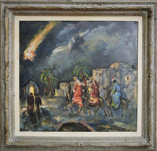 Adolfo LEVIER - Peinture - L'arrivo dei Re Magi