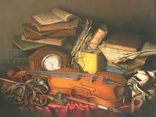 Albert BENAROYA - Peinture - The Rabbi's Study with Violin