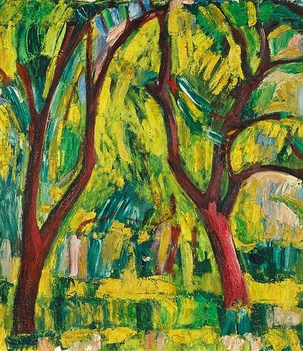 Cuno AMIET - Gemälde - Obstgarten 1916