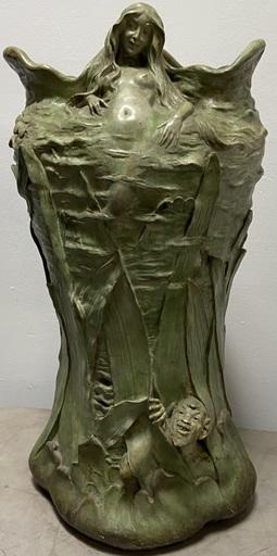 Johan PILAR - Cerámica - Vase Femme au Satyre