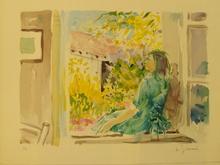 Daniel DU JANERAND (1919-1990) - Devant la fenétre,1980.