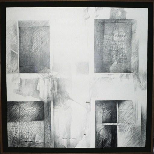 Pedro CANO - Zeichnung Aquarell -  Quattro finestre I