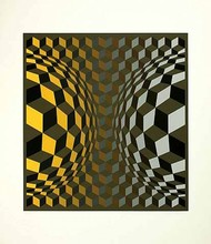 Victor VASARELY - Estampe-Multiple - Gordes Cheyt OND