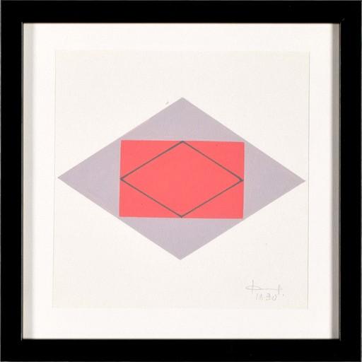 Jan CHWAŁCZYK - Zeichnung Aquarell - Geometric Composition I