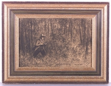 "Théodore FRERE - Dibujo Acuarela - ""Hunter"", Drawing, middle 19th Century"