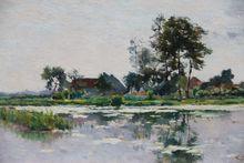 Lucien FRANK - Gemälde - PAYSAGE ENSOLEILLE