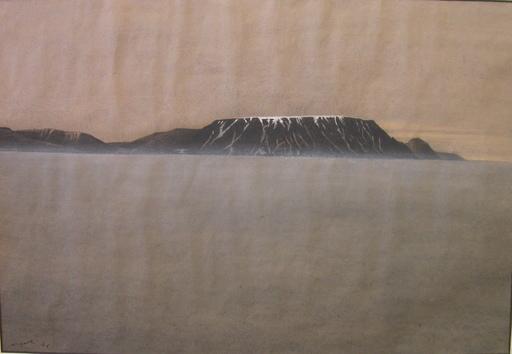 Eduard ANGELI - Dibujo Acuarela - Der Kilimandscharo
