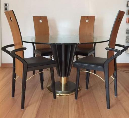 Pierre CARDIN - Dining Table & 4 Chairs Set by Pierre Cardin, 1970s