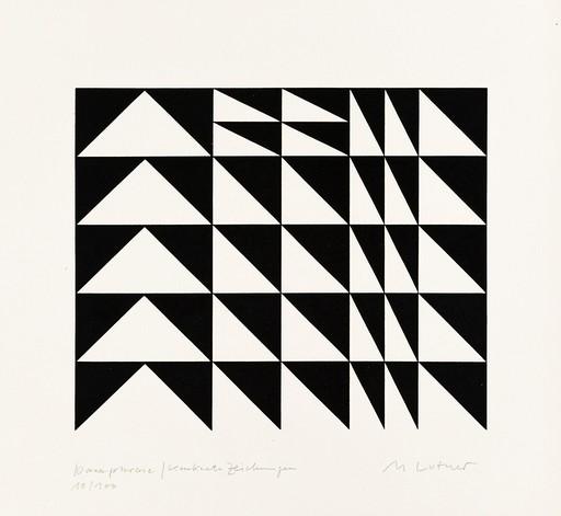 Manfred LUTHER - Grabado - Paraphrase/Paraphrase - Konkrete Zeichnungen
