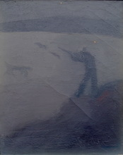Constantino GRANDIO - Pintura - cazador