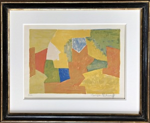 Serge POLIAKOFF - Grafik Multiple - Composition jaune, orange et verte