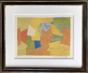 Serge POLIAKOFF - Grabado - Composition jaune, orange et verte